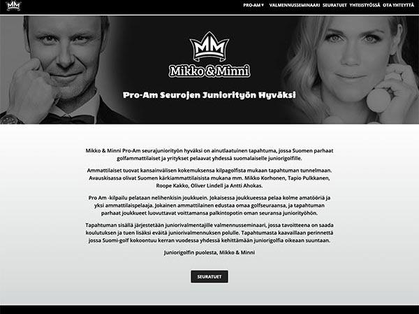 Mikko & Minni - website