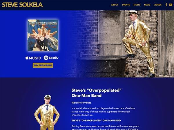 Steve Solkela - website